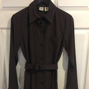 Brown Shirt GAP Shirt Dress Sz 8